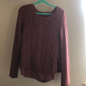Maroon Sweater from Anthropologie